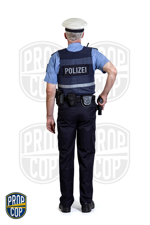 Polizeiuniform hinten