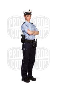 Polizistin NRW mit Diensthemd Kurz