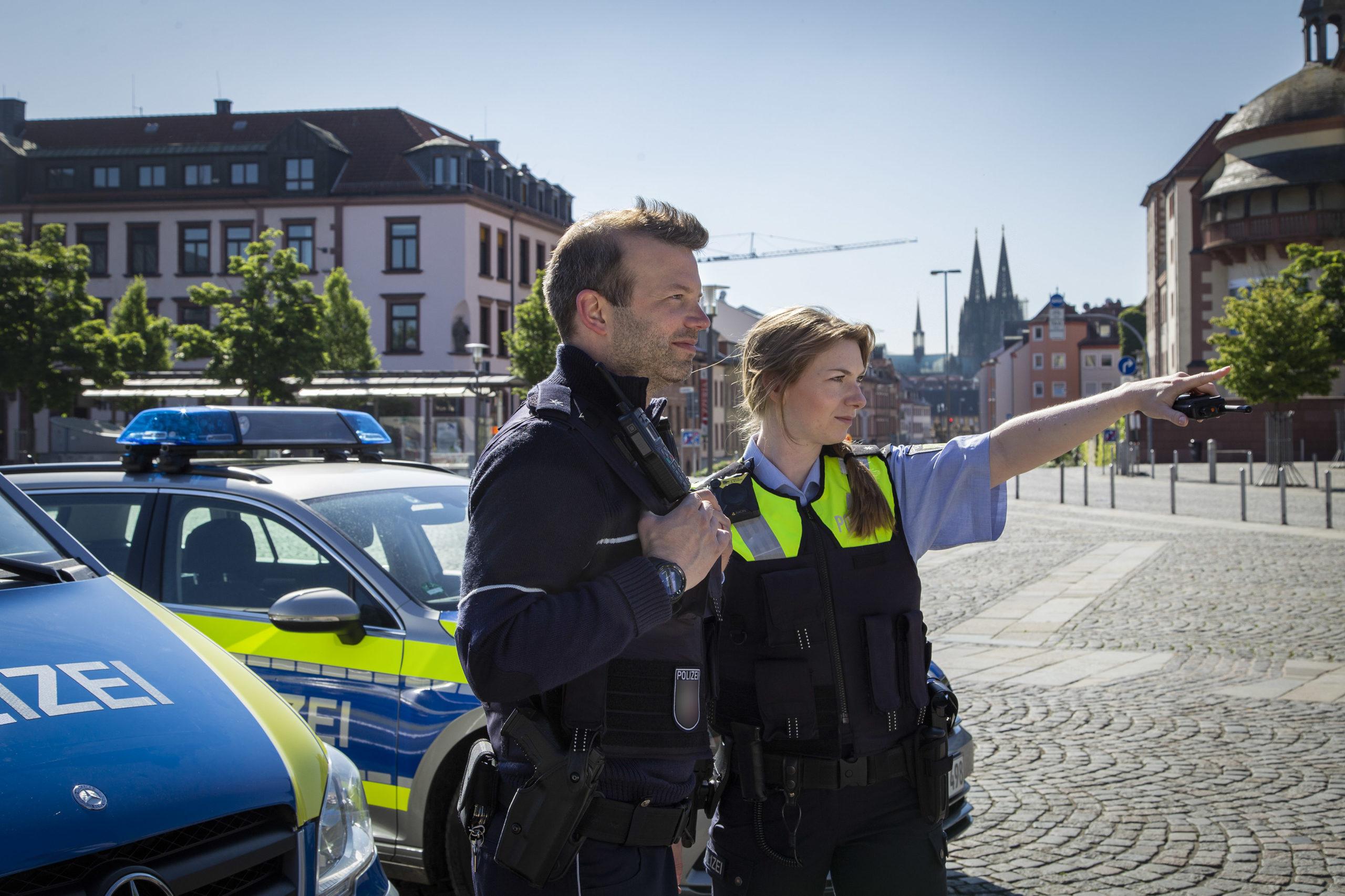 Streifenteam Polizei in Köln